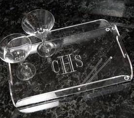 Trendy Acrylic Serving Tray