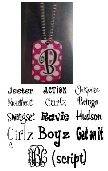 Dog Tag With Chain Necklace - Personalized / Monogrammed
