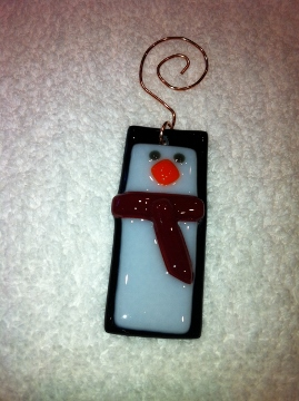 Penguin Christmas Ornament with Red Scarf