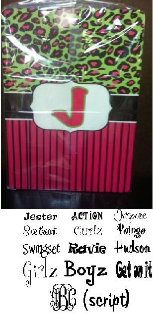 Trendy Monogrammed Leopard Pink Clipboard