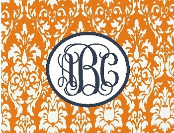 Damask Mousepads - Monogrammed/Personalized