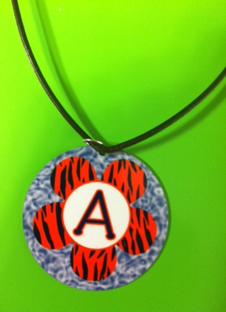 Tiger Flower Necklace Personalized/Monogrammed