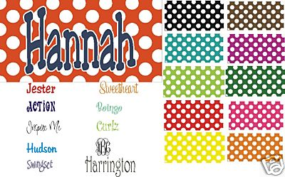 Personalized Dots & More Dots Car Tags- Monogrammed