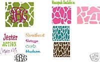 Giraffe Mousepads--Monogrammed & Personalized