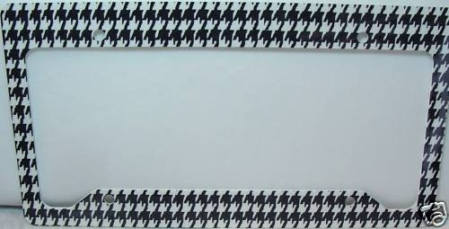 Trendy Houndstooth car tag frame