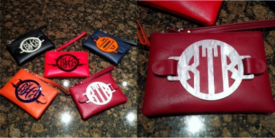 Game Day Handbag with Personalized Acrylic Monogram