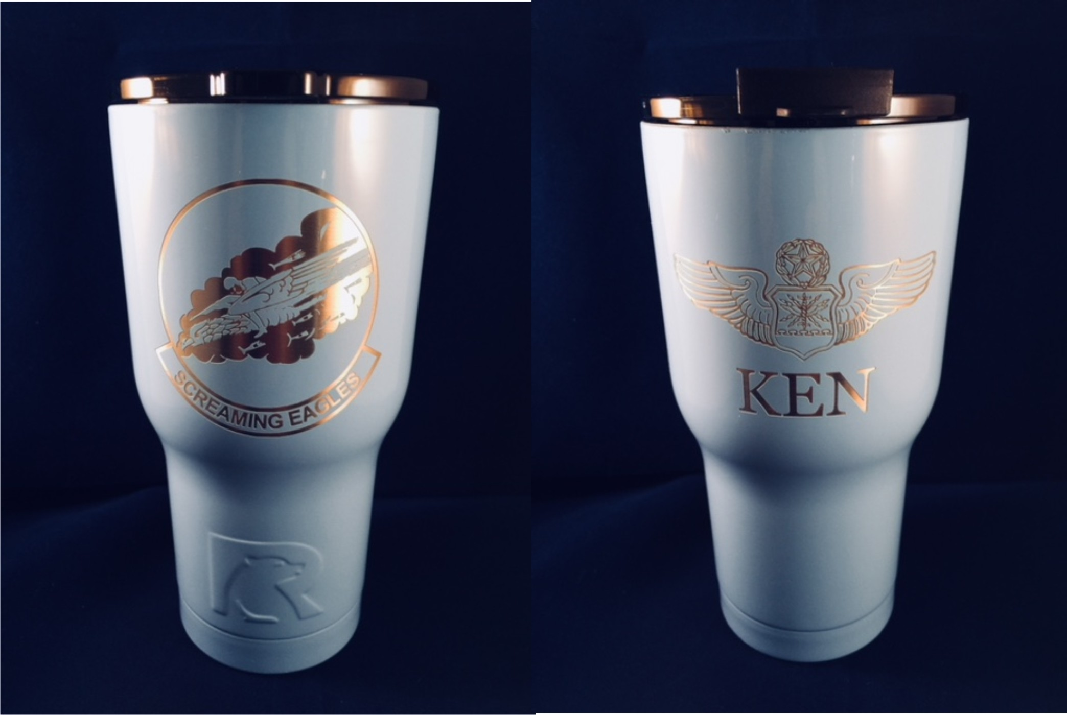 RTIC Tumbler 20 oz. 40th Squadron Logo & Personalized