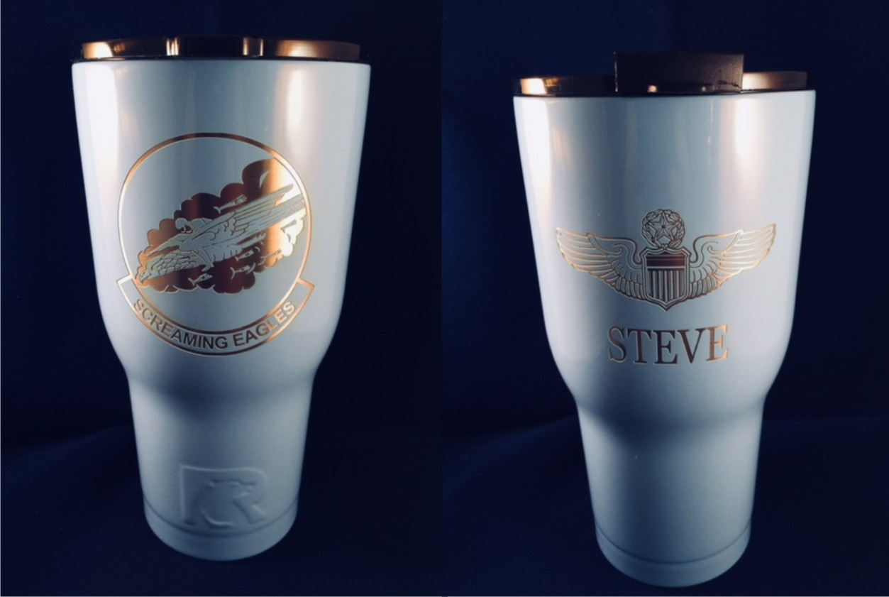 RTIC Tumbler 30 oz.  40th Squadron Logo & Personalized