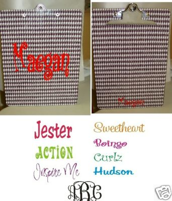 Houndstooth Clipboard--Monogrammed - Personalized