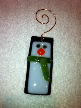 Penguin Christmas Ornament with Green Scarf