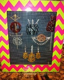 Trendy Acrylic Monogramed Jewelry