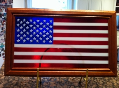 American Flag Fused Glass Tribute Edition 22x14