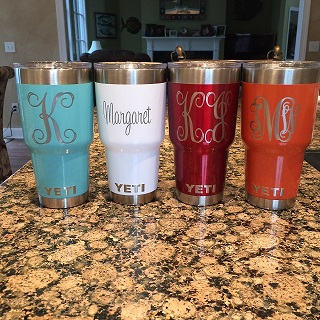 30 oz Yeti Rambler Powder Coated and Engraved