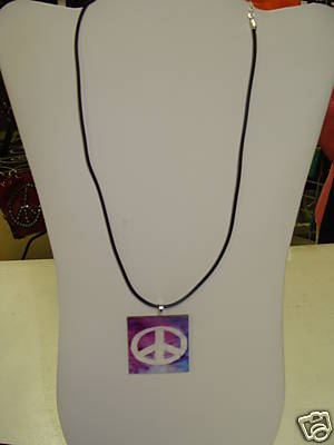 Wood Peace Necklace--Monogrammed/Personalized