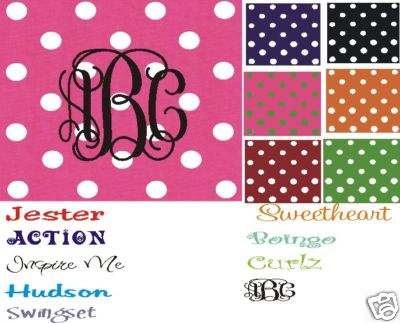 Polka Dot Mousepads--Monogrammed/Personalized