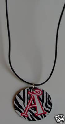 Monogrammed/Personalized Zebra Metal Necklace
