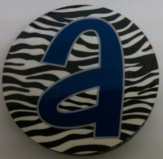 Monogrammed/Personalized Zebra round coasters