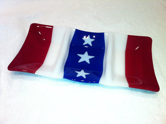 Flag Bunting Divided Appetizer Tray