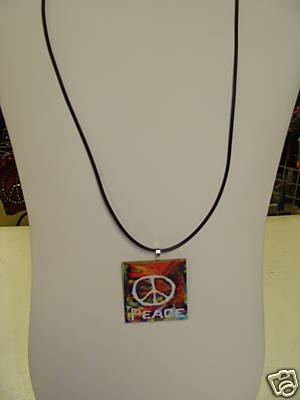 Wood Peace Necklace 2--Monogrammed/Personalized